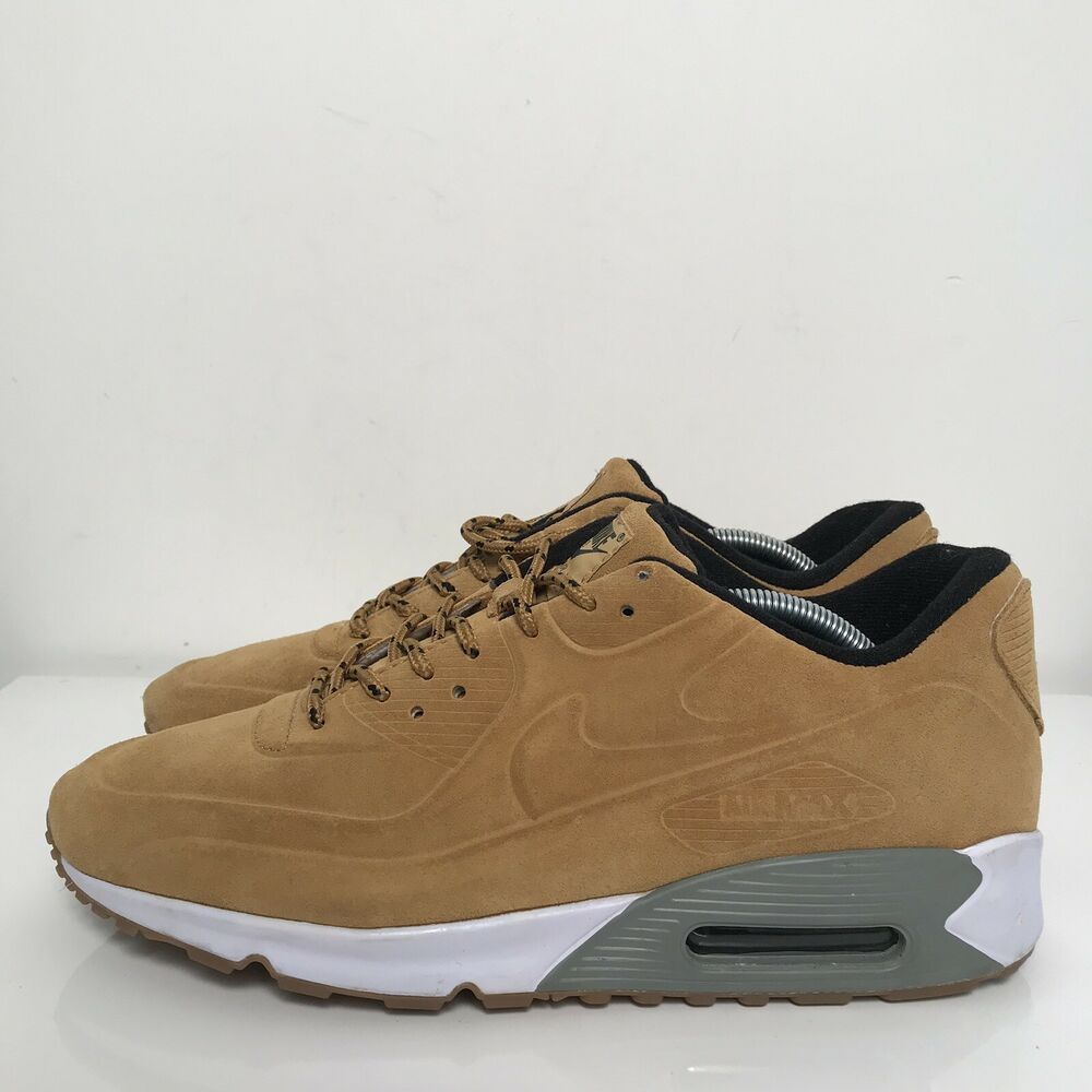 new arrival eb15c 6ccaa Details about RARE Nike AIR MAX 90 VT PRM QS Haystack 486988 700 Sz. 12  Wheat Suede
