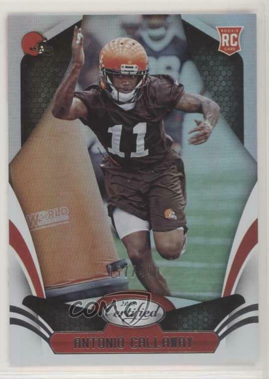 Details about 2018 Panini Certified Mirror  171 Rookies Antonio Callaway  Cleveland Browns Card 8c902ad83