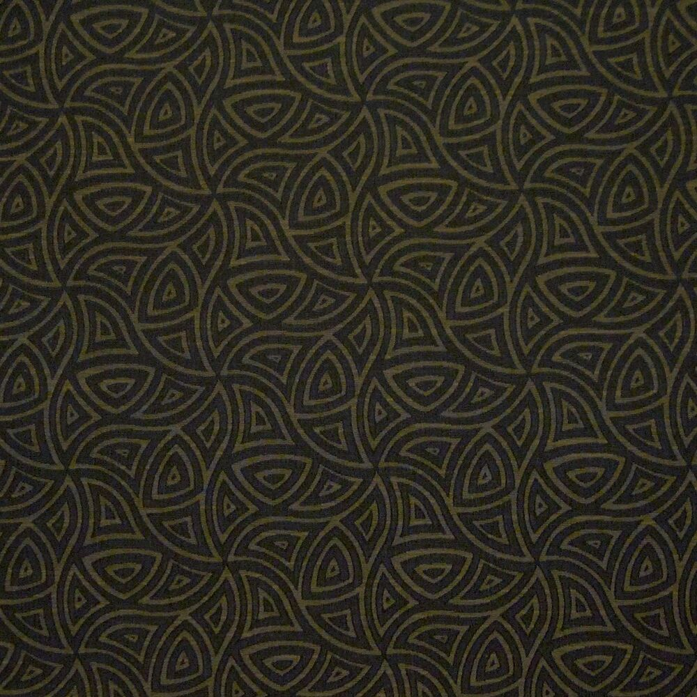 Details about Intersect Henna Brown Black Geometric Crypton INCASE Upholstery Fabric 1314460