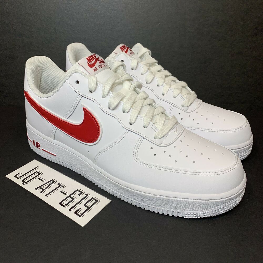 big sale 6f773 13798 Details about NIKE AIR FORCE 1 07  3 Mens Size 10 Wmns Size 11.5 White Gym  Red AO2423-102