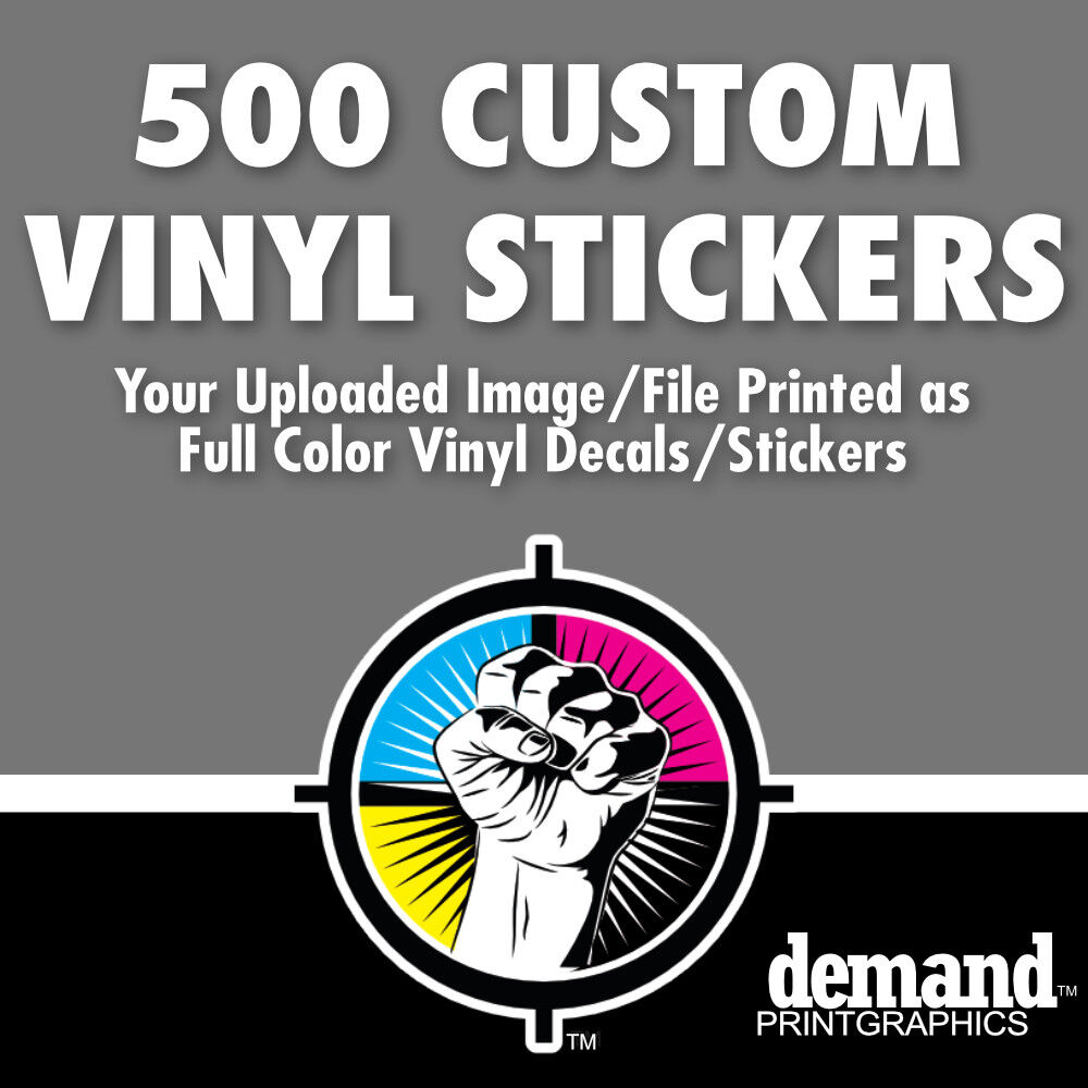500 Custom Stickers