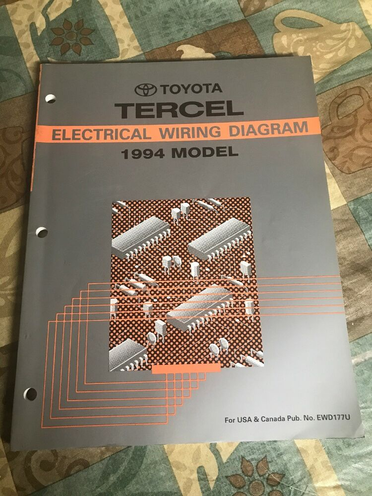 Toyota Tercel Electrical Wiring Diagram 1994 Model Dealership Repair Shop Oem