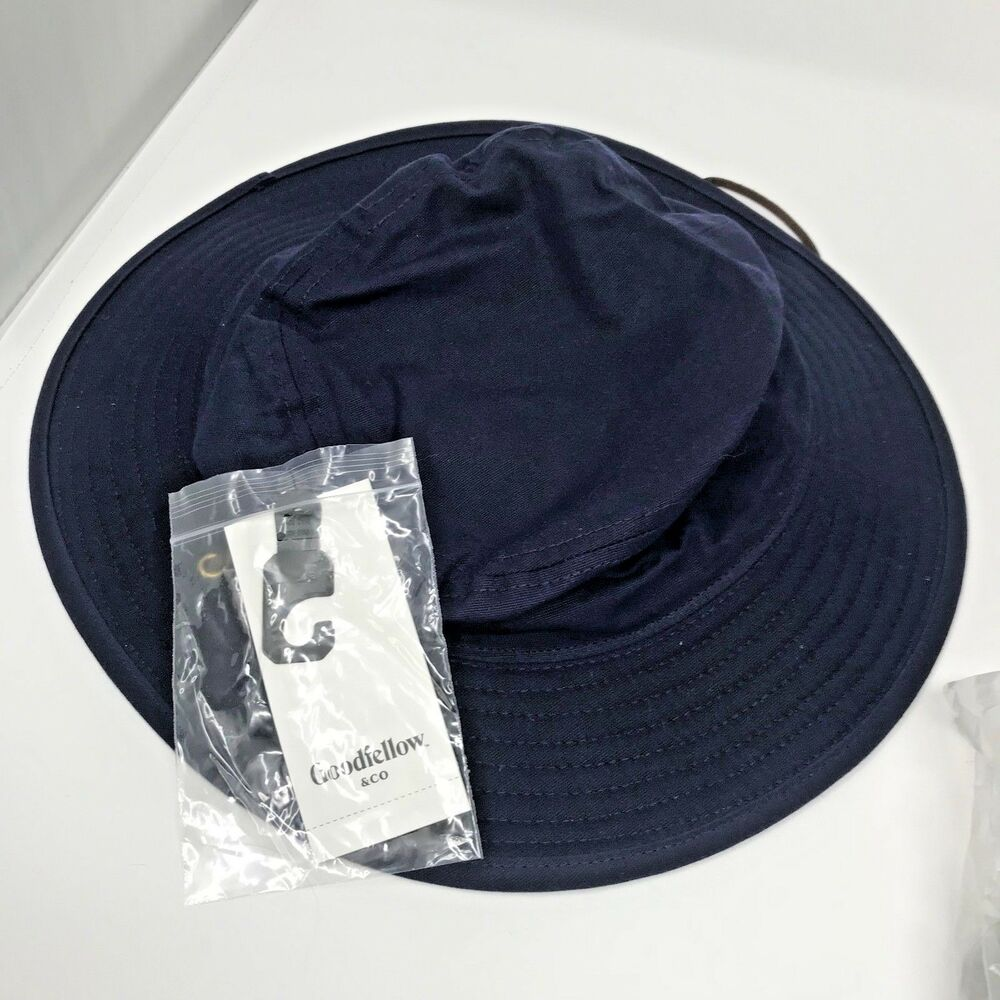 Details about Goodfellow and Company Mens Navy Blue Bucket Hat with Chin  Strap Size Large XL 9c189443cdd