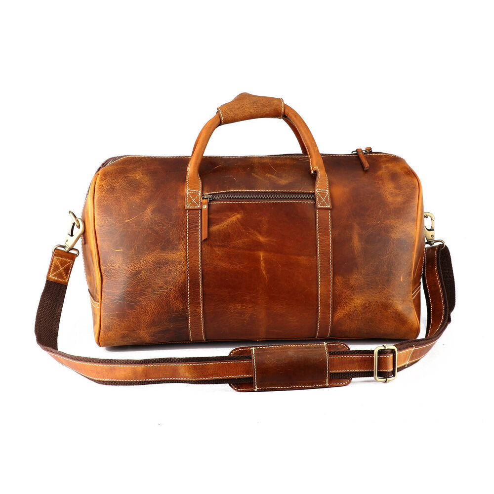 2f346a7ad3 Details about Buffalo Leather Duffle Bag Mens Travel Aircabin Carryon Luggage  Handbag Weekend