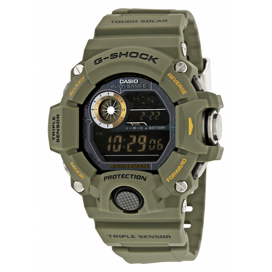 ded5601844f Casio Men s Rangeman Military Black Triple Sensor Atomic Watch GW9400-3