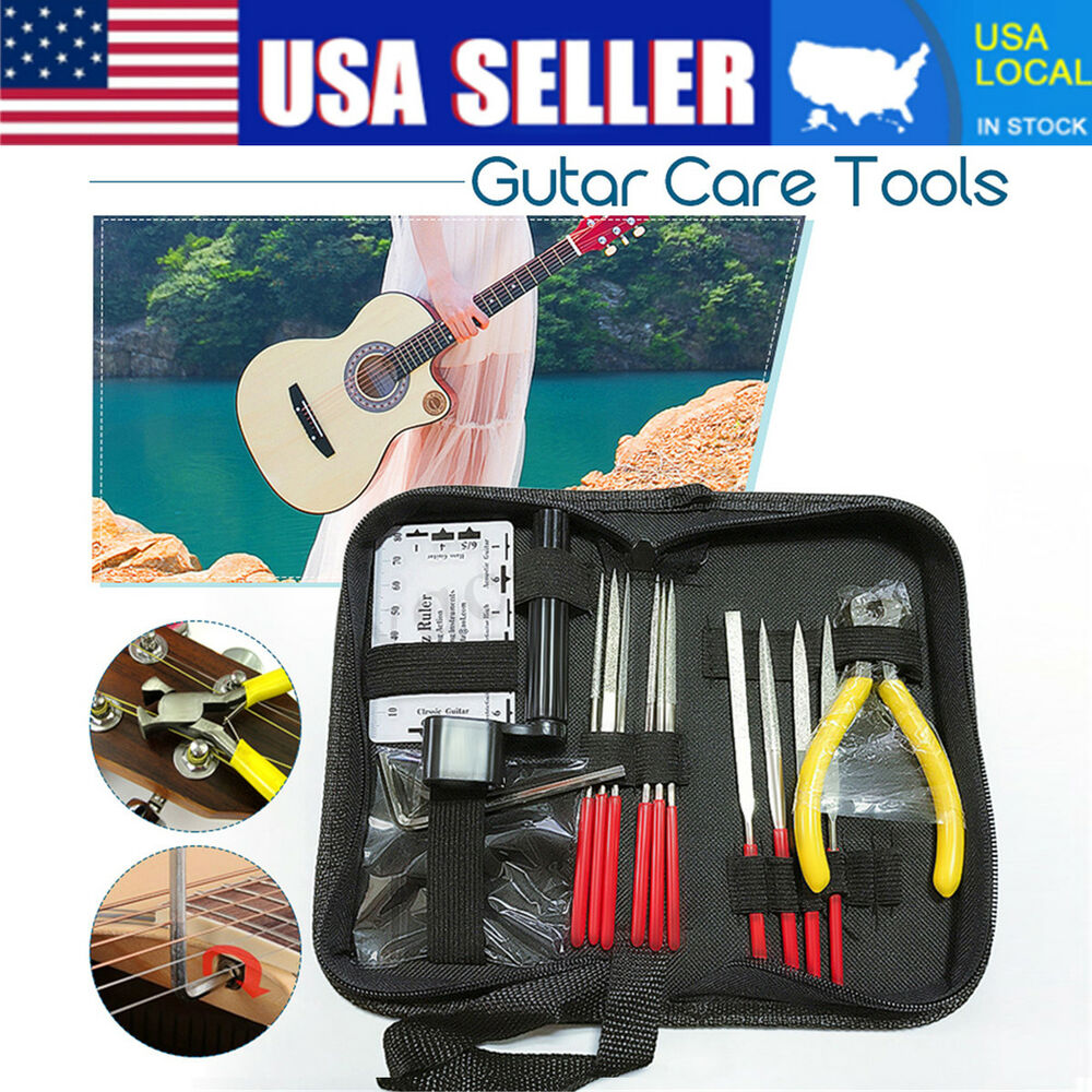 guitar care tool repairing maintenance cleaning kit set for electric bass us 6247818004194 ebay. Black Bedroom Furniture Sets. Home Design Ideas