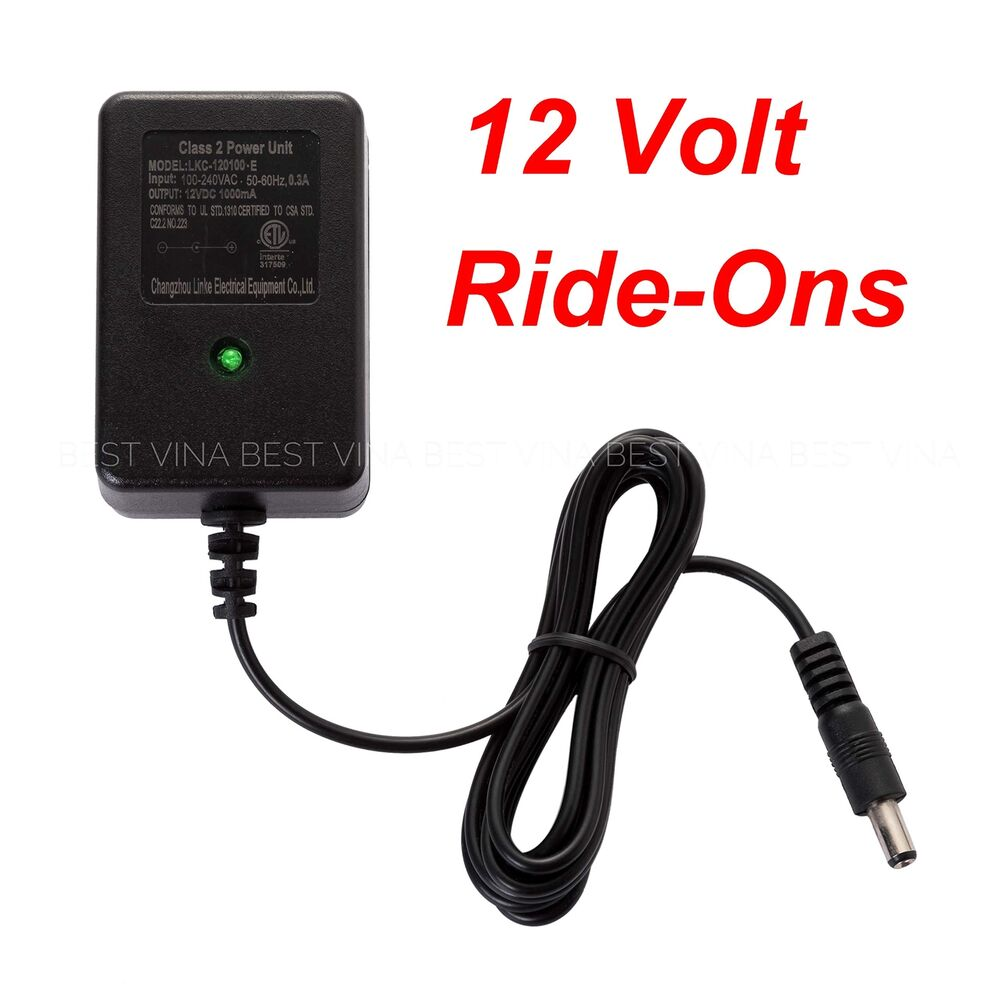 Details About 12v Charger For Kids Ride On Car Volt Battery Best Choice Products Trax Suv