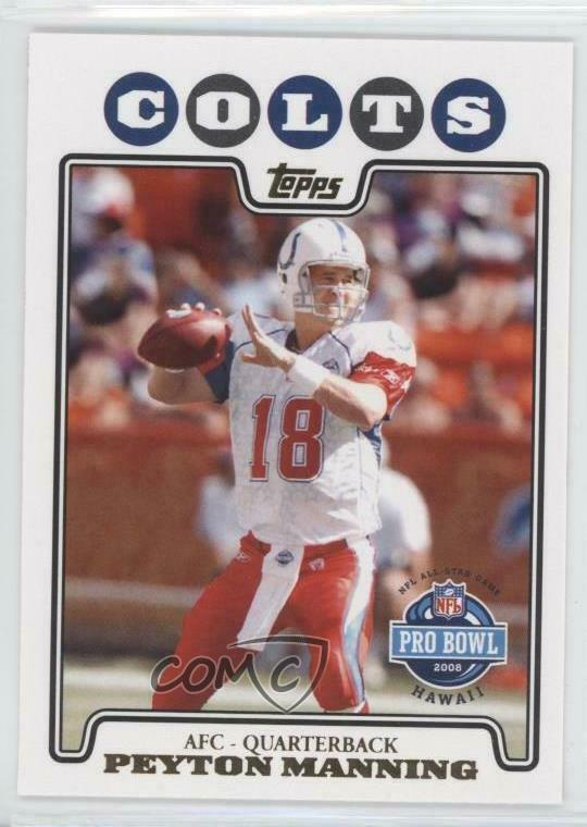2008 Topps Gold Foil  308 Peyton Manning Indianapolis Colts Football Card  7dc357c63