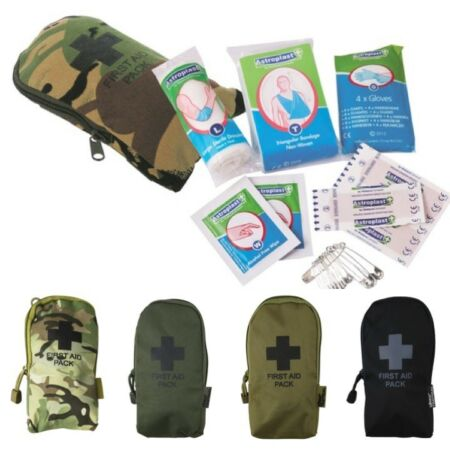 img-ARMY SMALL FIRST AID KIT & POUCH MTP BTP CAMO SURVIVAL HIKING EMERGENCY FIELD