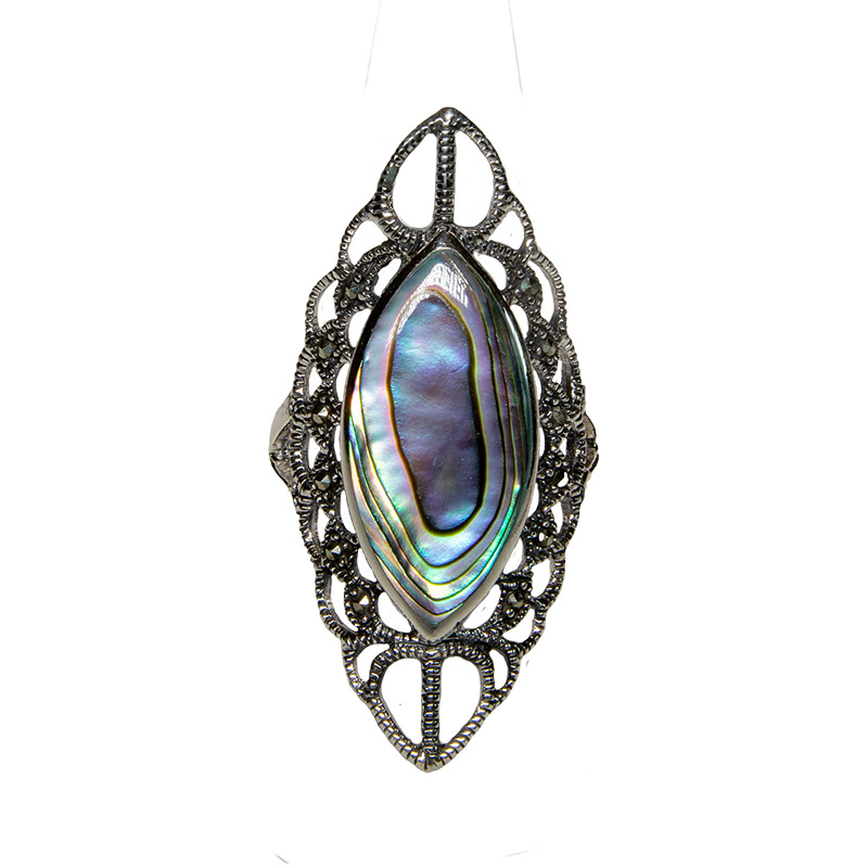 Turquoise Natural Gemstone Bling Ring 925 silver Size L-T feeanddave