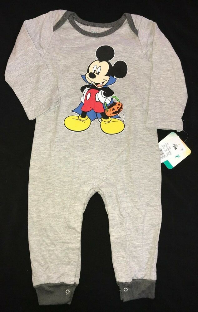3f8b8d9c1 Details about 18 months BOYS NEW NWT gray MICKEY MOUSE HALLOWEEN ROMPER  pants pumpkin VAMPIRE!