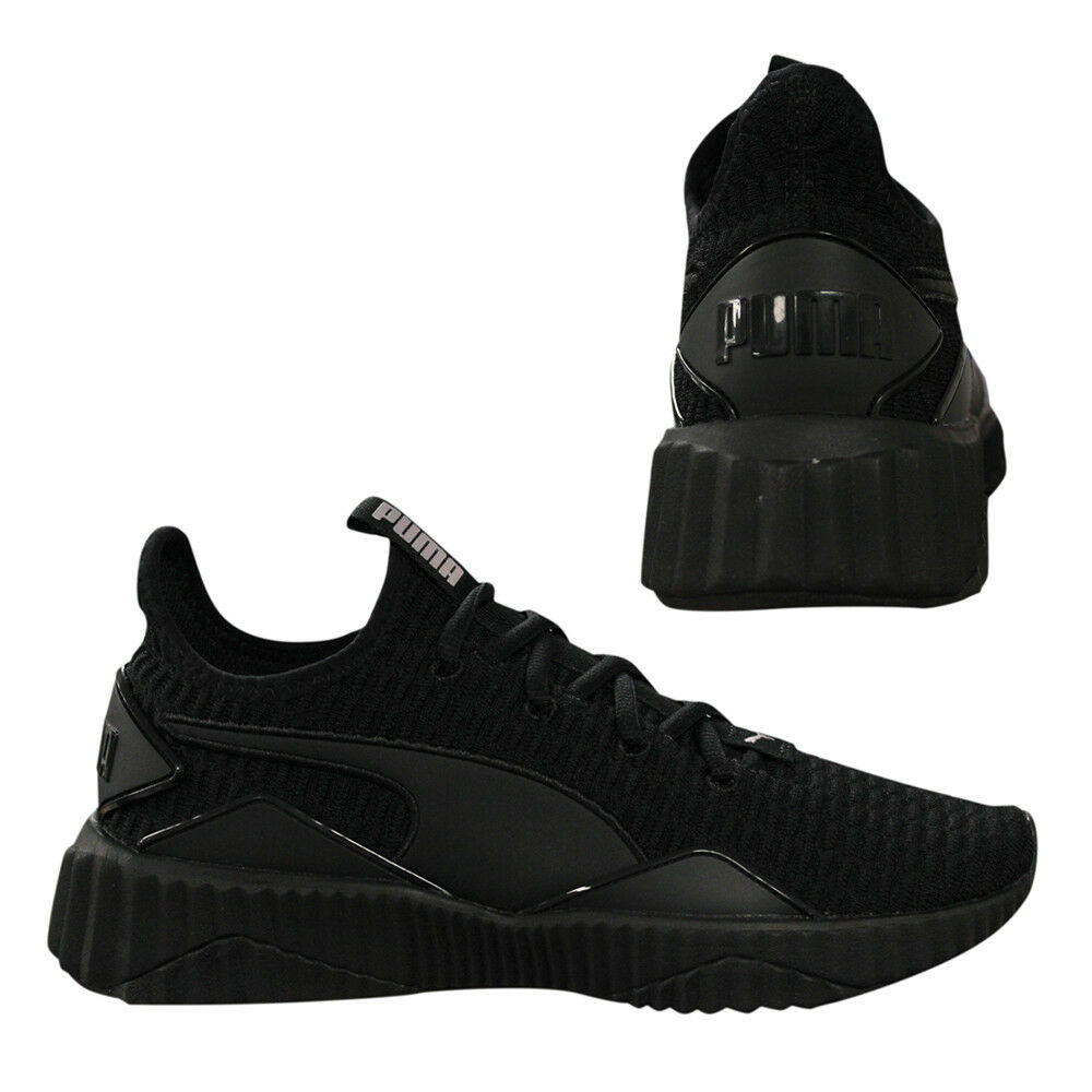 631f8db53ed Puma Defy Womens Trainers Slip On Lace Up Running Shoes Black 190949 ...