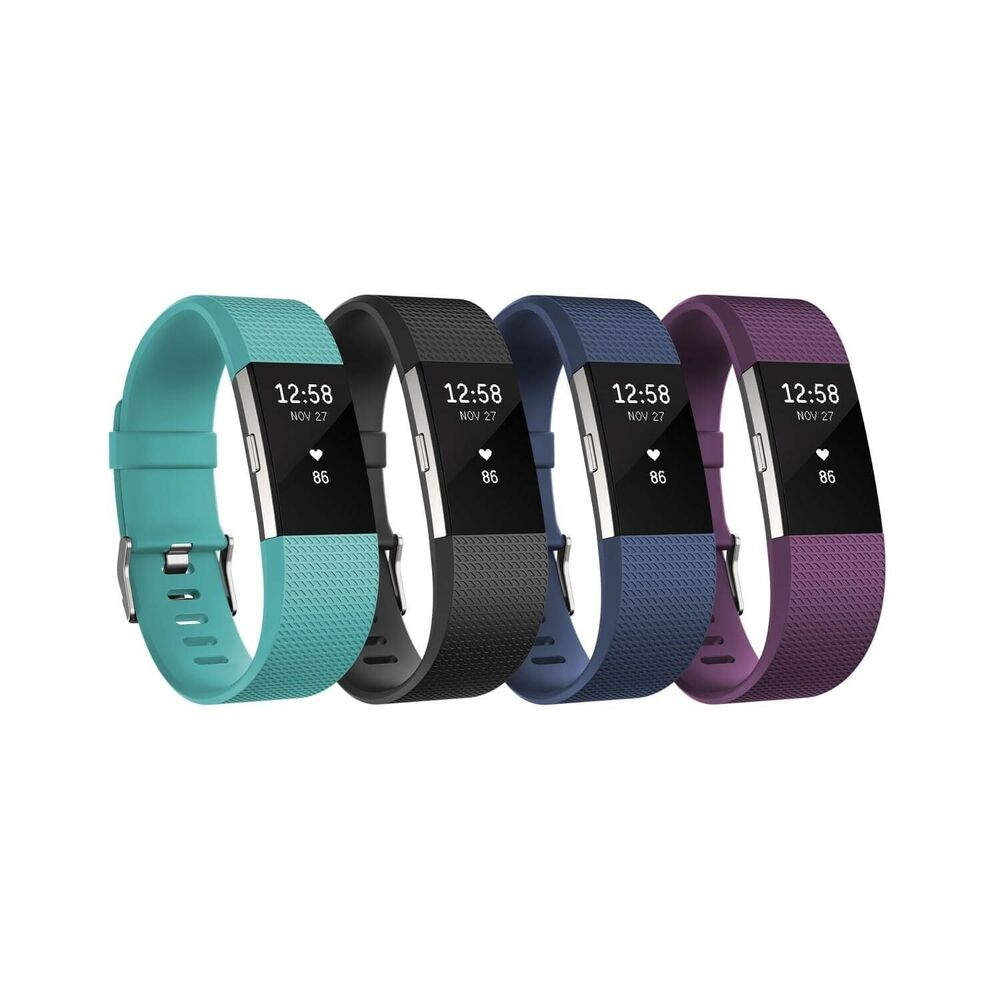fitbit charge 2 heart rate fitness wristband multiple colors and sizes ebay