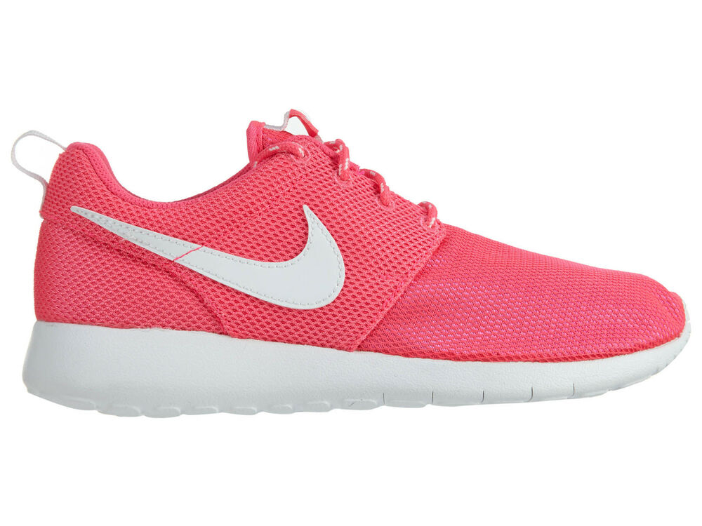 fd9310001299 Nike Girls Roshe One Big Kids 599729-609 Hyper Pink Mesh Running Shoes Size  4