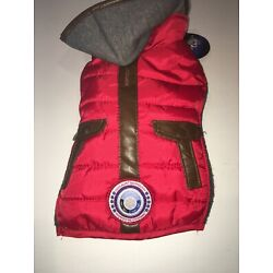 Silver Paw LuvGear coldAlert! Quilted Red Jacket - Size EXTRA SMALL New