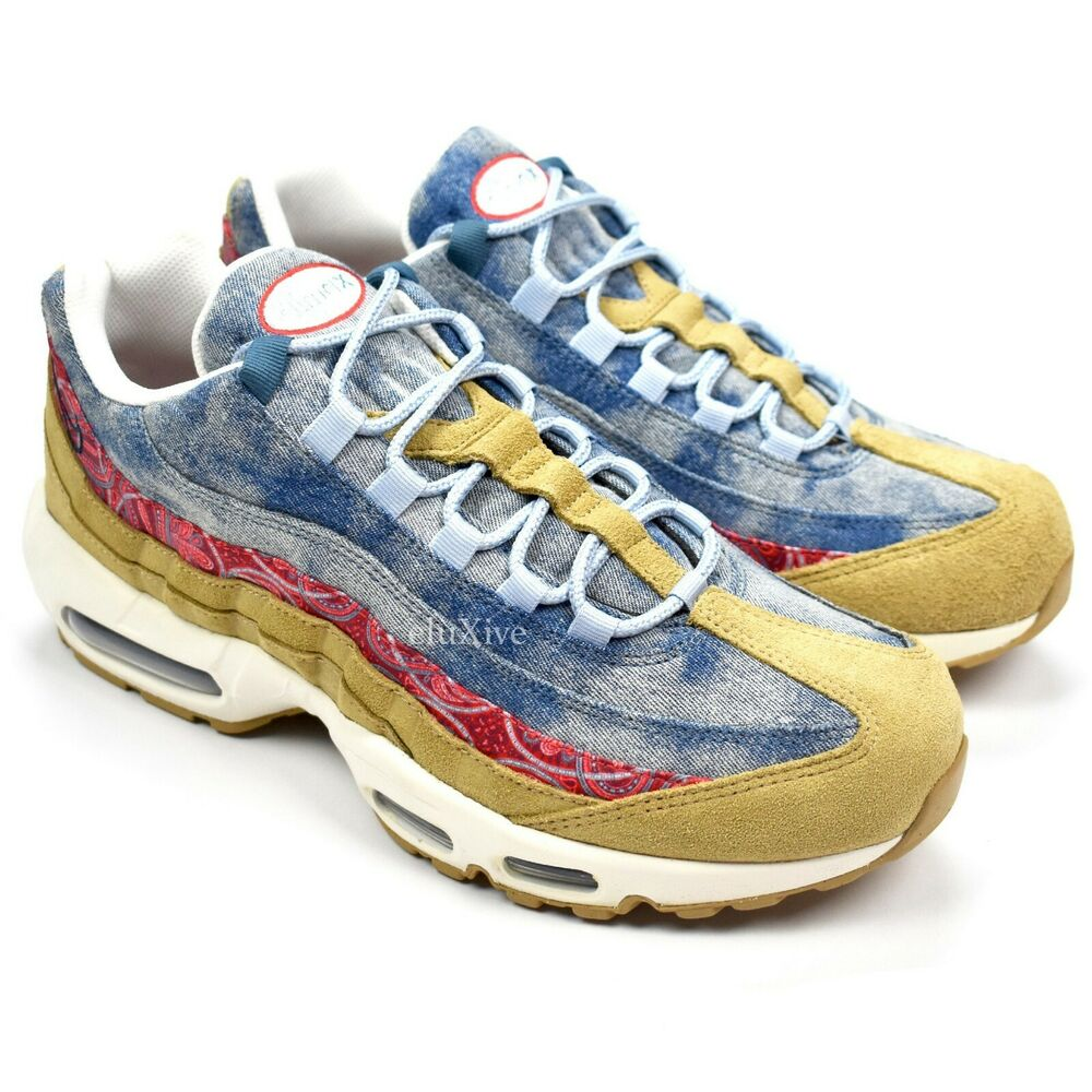 19b15f1eaab7 Details about NWT Nike Air Max 95 Wild West Pack Denim Bandana Men s  Sneakers 10 DS AUTHENTIC