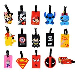 Disney and Various Luggage Tags / ID Holders with Strap ~ Huge Selection ~ NEW