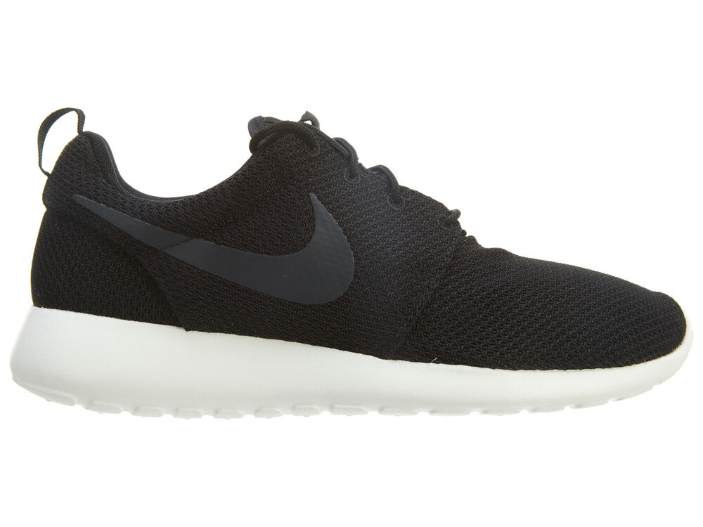 free shipping 3aa16 12f98 Details about Nike Roshe Run Mens 511881-010 Black Sail Anthracite Mesh  Running Shoes Size 8.5