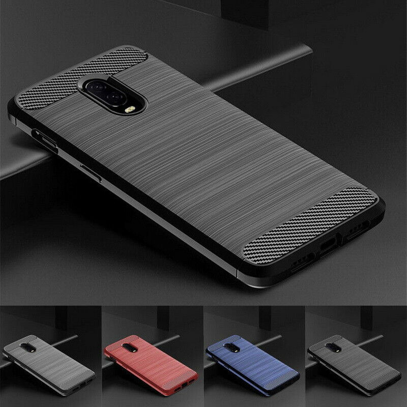 newest a7aa0 5b721 For OnePlus 6T 5T 3t Official Carbon Fiber Nylon Pattern Hybrid Soft Case  Cover | eBay