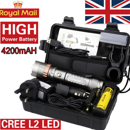 img-20000lm SHIXE Tactical L2 LED 18650 Flashlight UK Military Grade Torch with BOX