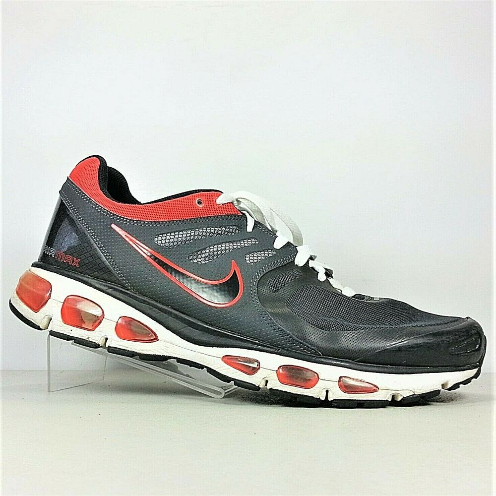 timeless design 53108 31a5a Details about Nike Air Max Tailwind 2 Men Black And Red Lace-Up Athletic  Running Shoes Size 13