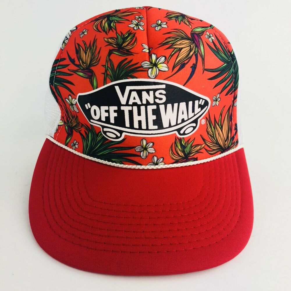 b1be47752b Details about Vintage Vans Off The Wall Otto Hawaiian Floral Snapback Trucker  Hat Skater Cap