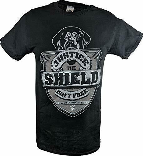afe9dc87 Details about The Shield Justice Isn't Free Reigns Ambrose Rollins WWE Mens  Black T-Shirt