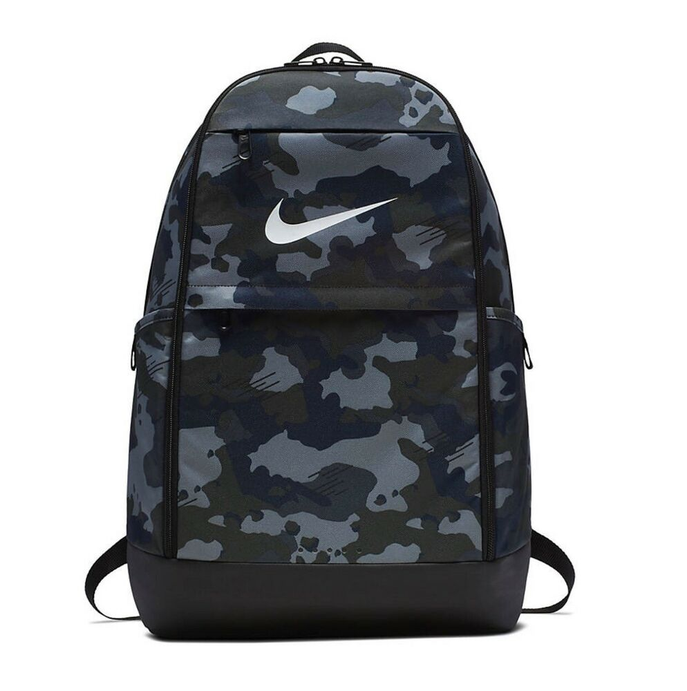31a3c2fb8152b Details about Nike Camo Brasilia Solid XL Backpack One Size