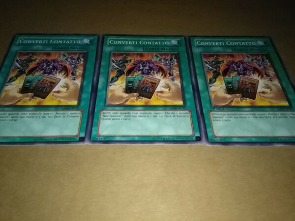 CARTE YU-GI-OH! ITALIANE CONVERTI CONTATTO TAEV-IT047 DP06-IT016 (3 COPIE)