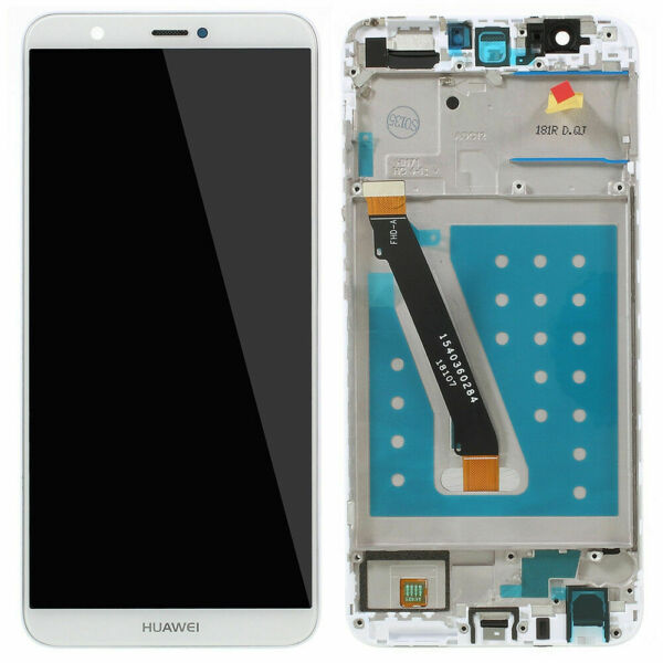 NEW Huawei P SMART FIG-LX1 Touch Digitizer LCD Screen Assembly With Frame White