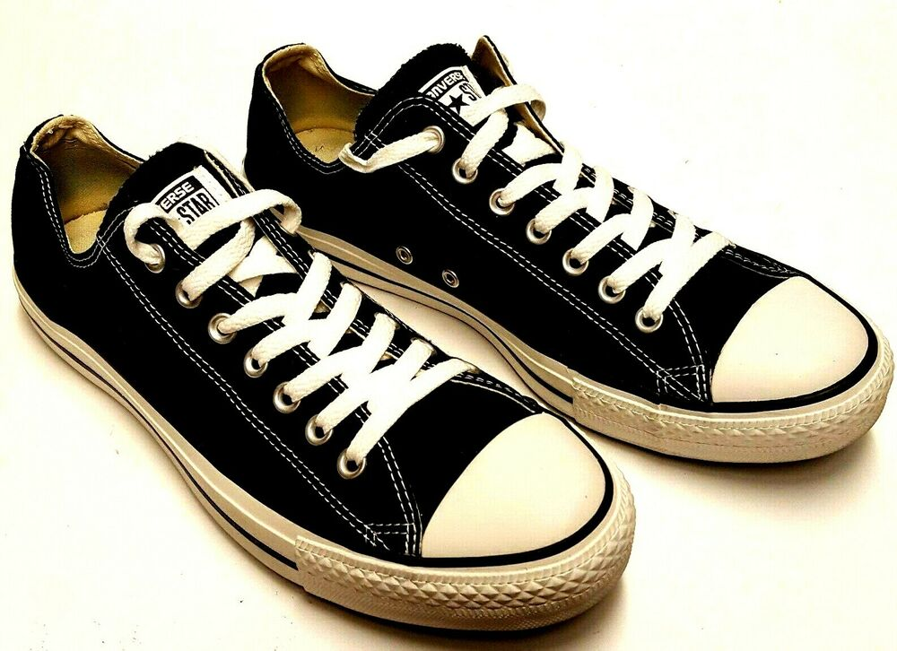 f017b69cf31 Details about CONVERSE Mens 11 Womens 13 Black Chuck Taylor All Star Low  Top Sneaker M9166 EUC