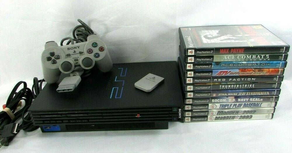 Ps2 Scph 30001: SONY PLAYSTATION 2 PS2 Black Fat Console SCPH-30001