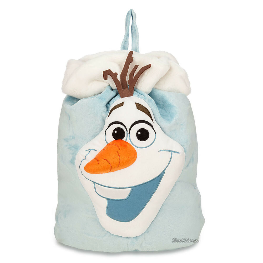 b7818571a01c Details about Frozen OLAF SNOWMAN Plush Easter Basket Candy Sack Gift Bag  Tote DISNEY STORE