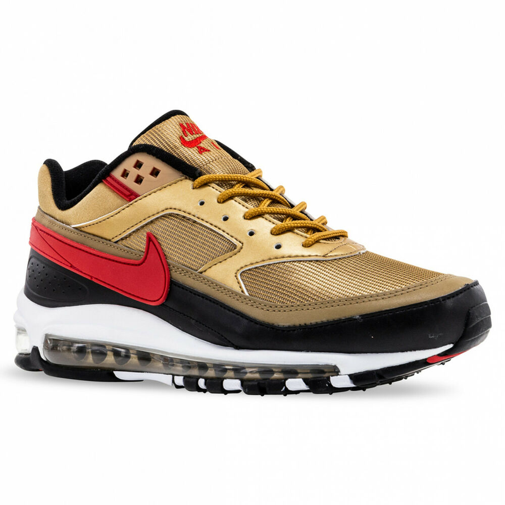 150bfe71a Details about Nike Air Max 97 BW Metallic Gold University Red AO2406-700  Mens Shoes