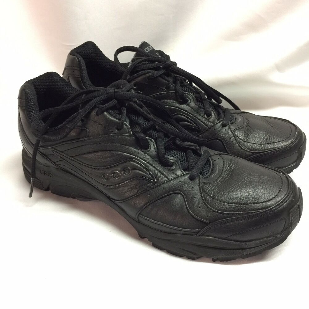 7176f80b8c4d Details about Saucony Womens Black Grid Integrity ST2 Sz 11AA Walking  Sneakers