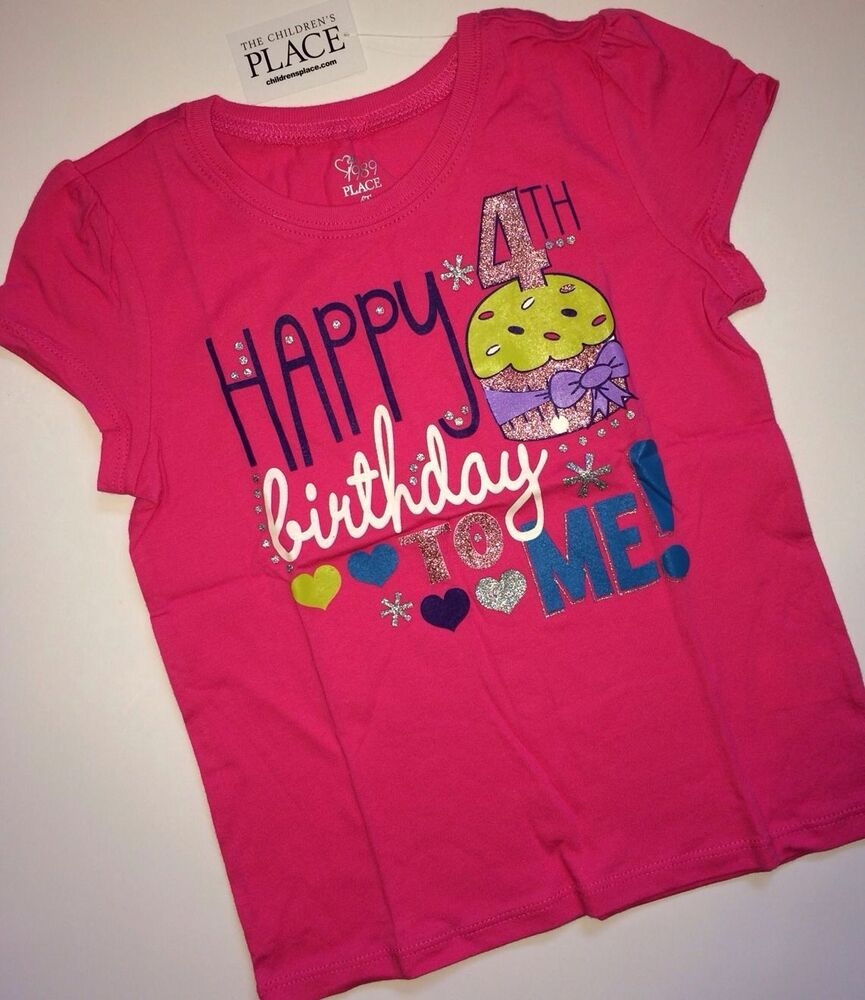 Details About NEW Happy 4th Birthday To Me Baby Girls Shirt 4T 4 Years Gift SS