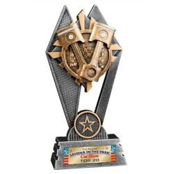 CAR SHOW TROPHY RESIN AWARD PISTON RACING FREE LETTERING 8
