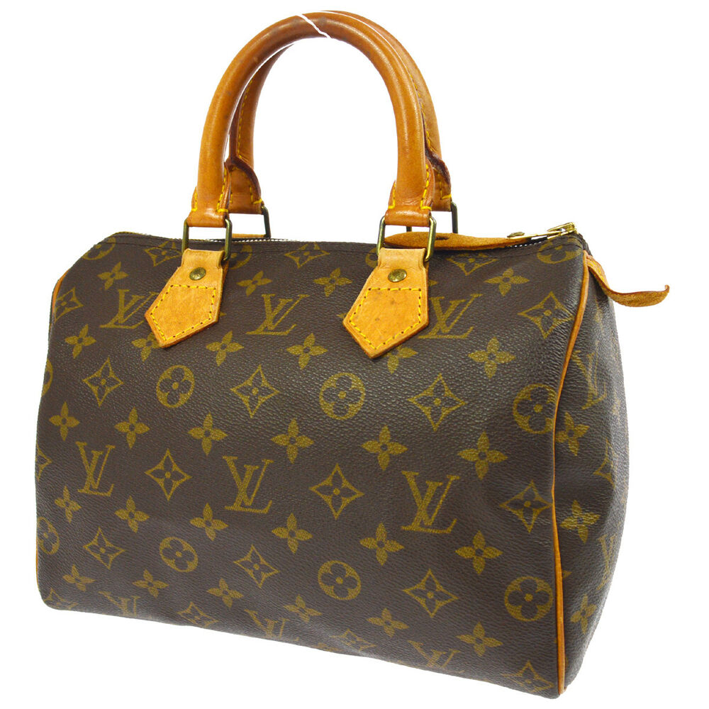 6b56b6390373 Details about AUTHENTIC LOUIS VUITTON SPEEDY 25 HAND TOTE BAG MONOGRAM  PURSE M41528 A41485g