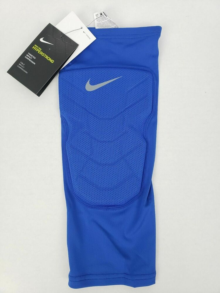 675f57a3f4 Details about Nike Pro Combat Hyperstrong Compression Shin Leg Sleeve Blue  SZ LARGE 629884-493