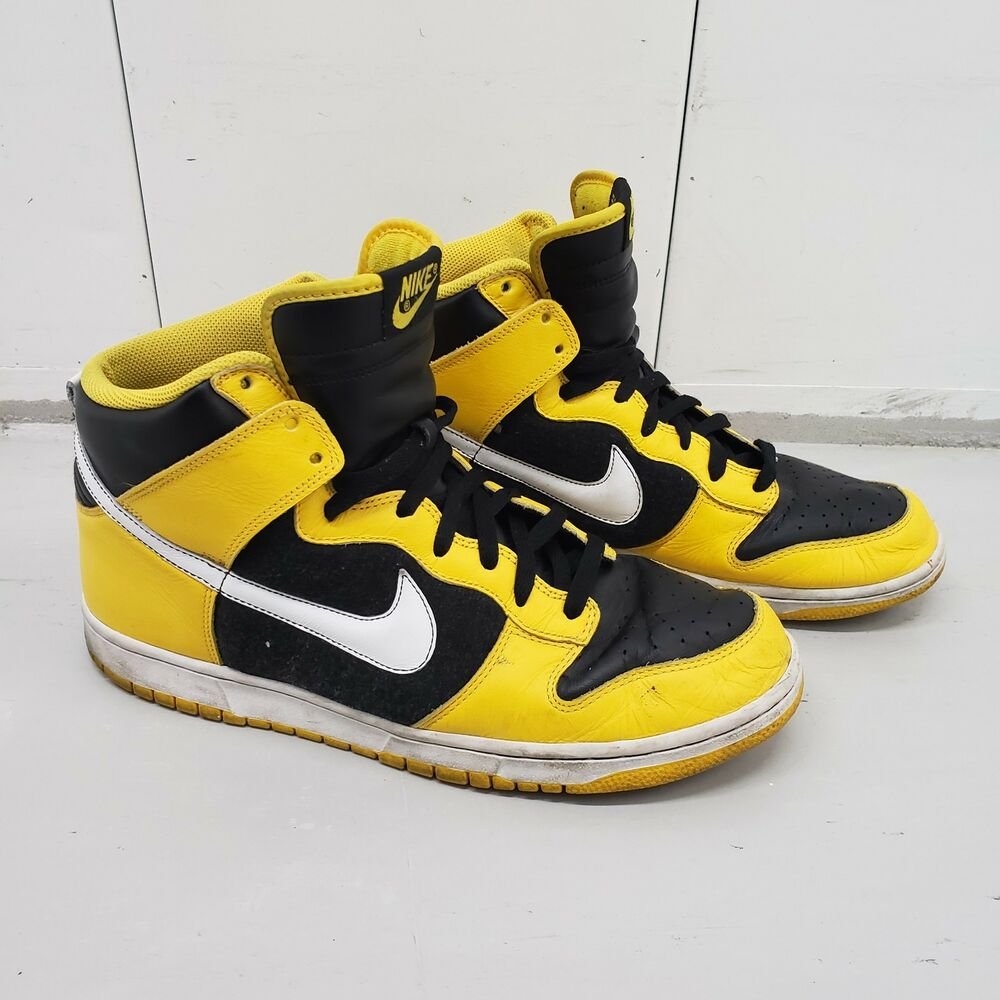 hot sale online c3c93 fab81 Details about 2006 NIKE DUNK HIGH MAIZE YELLOW WHITE BLACK WU-TANG  GOLDENROD 309432-711 sz 13