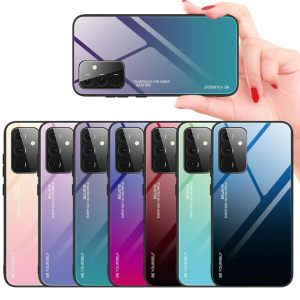 For Samsung Galaxy A50S A40 A30S A10S A70 A51 Gradient Tempered Glass Case Cover