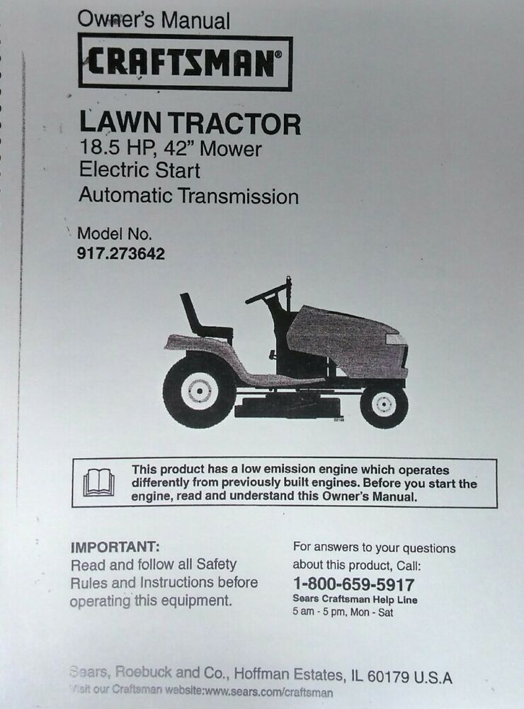 craftsman riding mower service manual