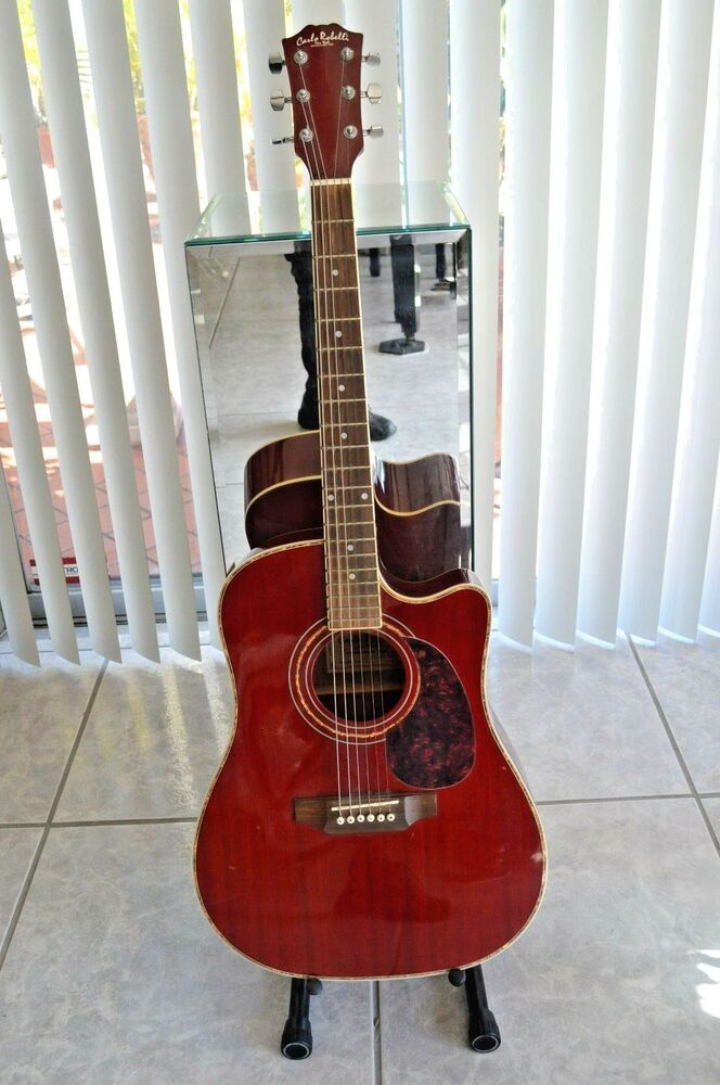 carlo robelli new york acoustic guitar 6 string ebay. Black Bedroom Furniture Sets. Home Design Ideas