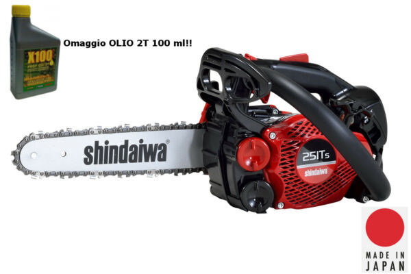 Motosega SHINDAIWA 251TS professionale 2020 made in Japan + olio 2T OMAGGIO