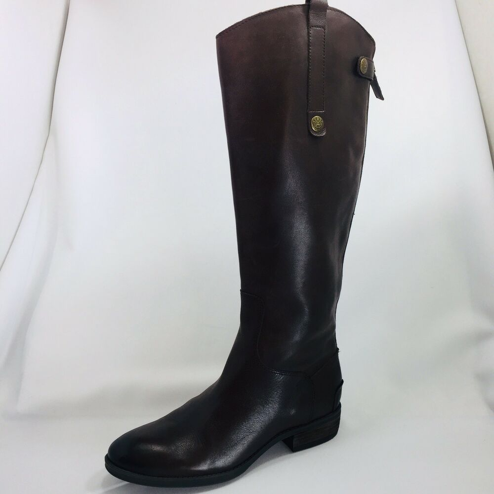 5bee277331bb Details about Sam Edelman Penny Brown Leather Back Zip Tall Riding Boots  Womens Size 7.5 M US