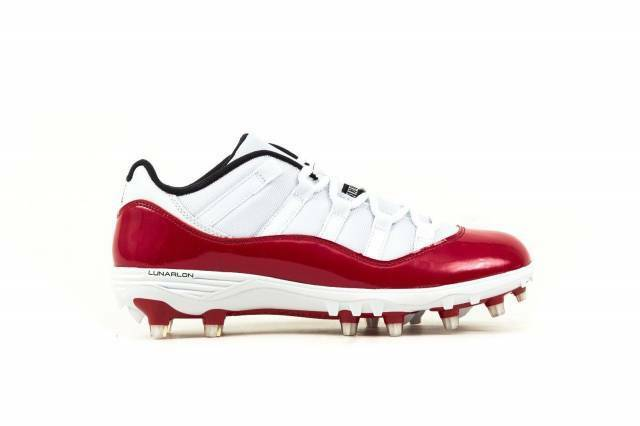 9048a079849f9 Details about Nike Air Jordan XI 11 Retro Low TD SZ 12 White Gym Red Cherry  Cleats AO1560-101