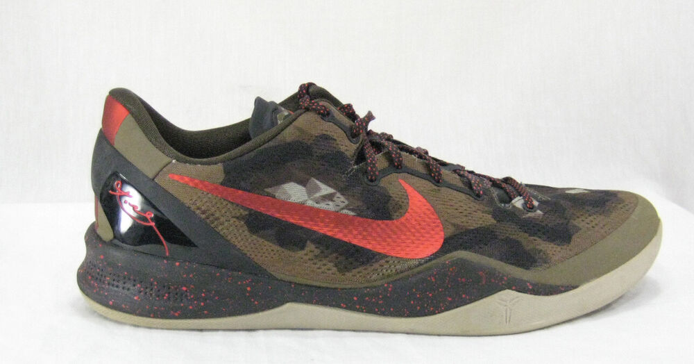 buy online deec9 88942 Details about NIKE KOBE VIII 8 SYSTEM Python SZ 15 Squadron Green Red Brown  555035-300