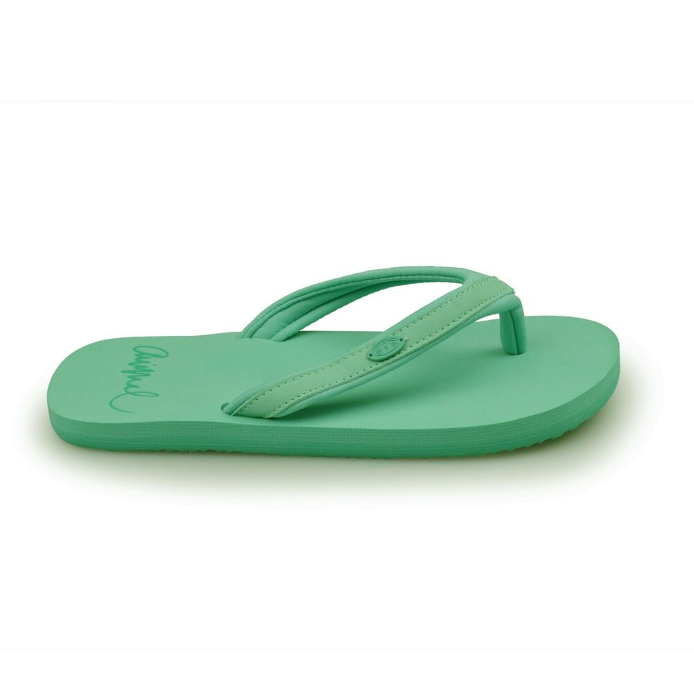 a951a6ef5 Details about Animal® Swish Slim Block Women s Turquoise Flip Flops Sandals  Brand New
