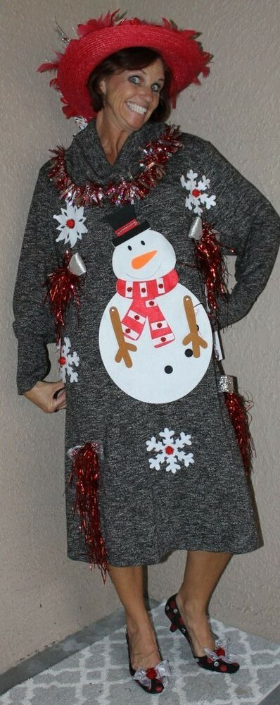 Created By Deb Rottum Ugly Tacky Christmas Sweater Dress