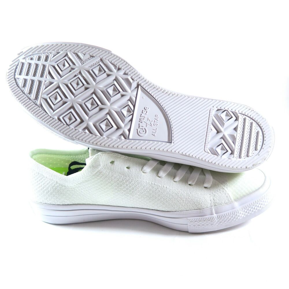 5901ede34c16 Details about Converse Chuck Taylor All Star X Nike Flyknit Ox Low 157592C  White